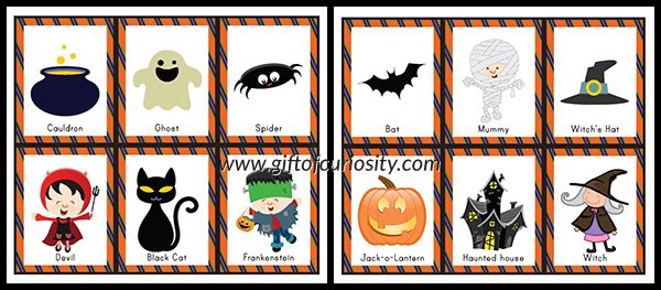Free Halloween Bingo calling cards