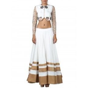 Front cut out crop top with flairy skirt. Shop Now http://bit.ly/1In3hw9