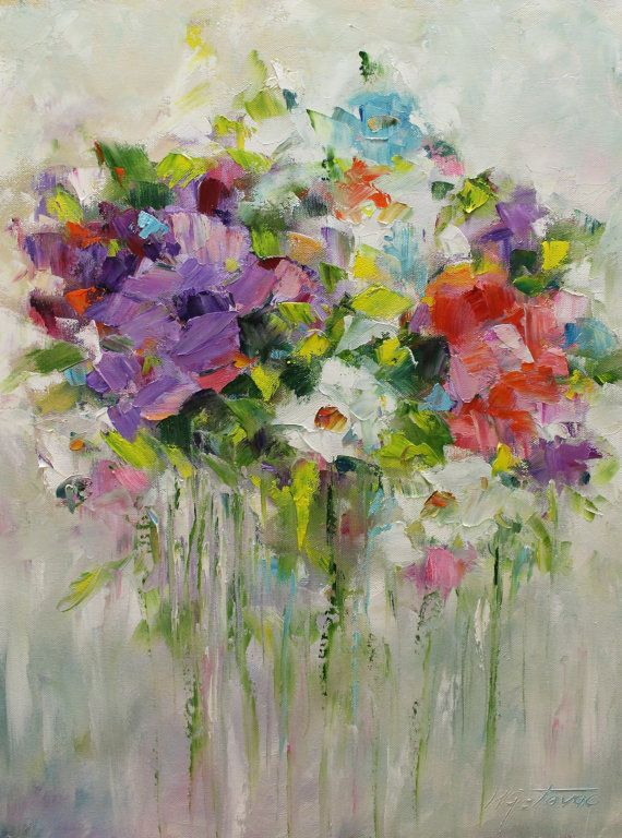Original Oil Painting- Beauty From my Garden- Modern, Contemporary 18x24