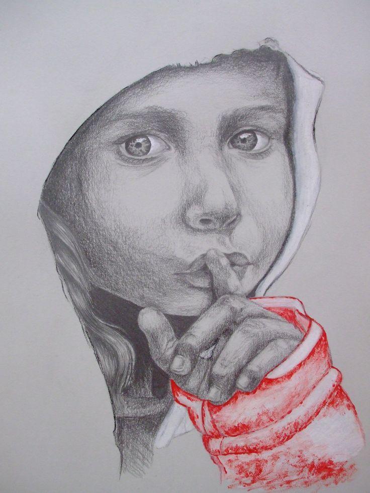 Pssszt....., A4 ceruza rajz
