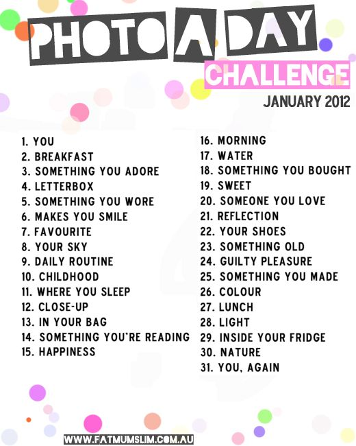 Photo a day challenge lists: see them all here - fat mum slim | fat mum slim