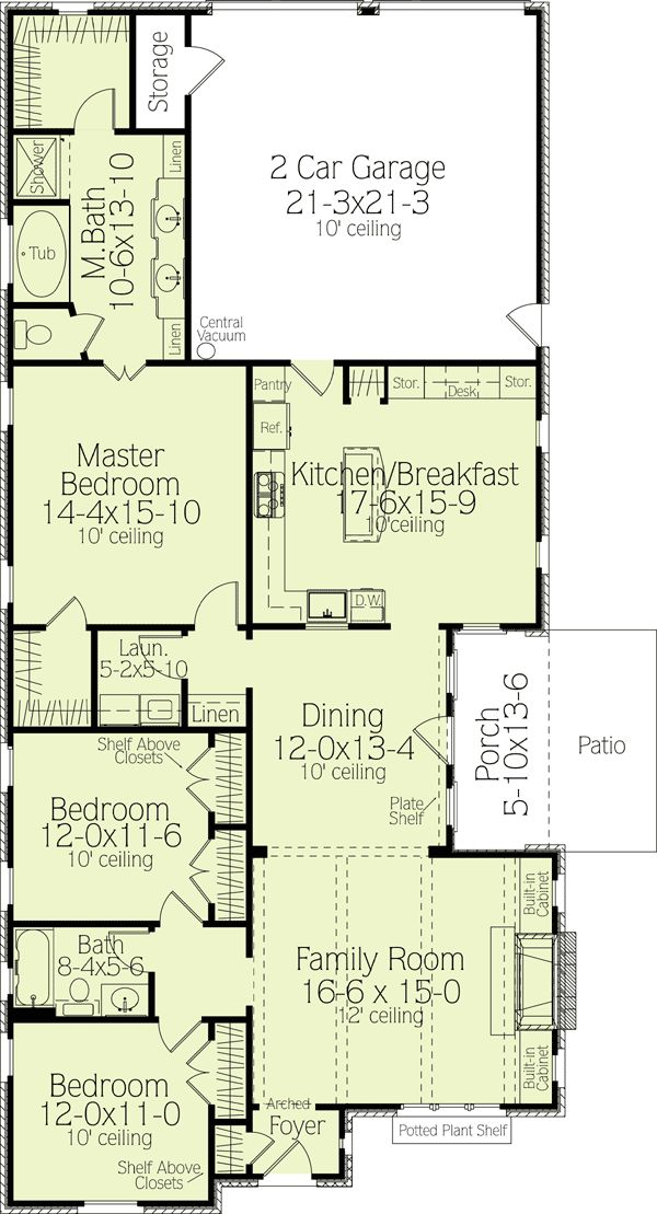 17 best ideas about narrow lot house plans on pinterest for Narrow lot one story house plans