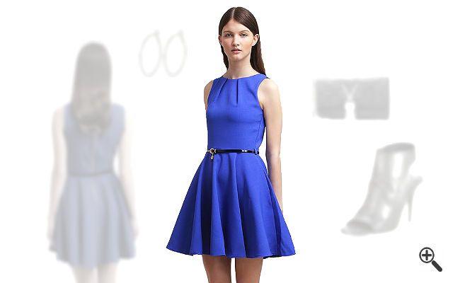Blaues Kleid in kurzkombinieren + 3Blaue Outfits für Cilli http://www.kleider-deal.de/blaues-kleid-kurz/ #Blau #Blue #Kleider #Cocktailkleider #Dress #Outfit Cilli wünscht sich Ideen, wie sie ein blaues Kleid in Kurz kombinieren kann. Deshalb hat sie mich um Unterstützung gebeten. Ich habe für sie ein schickes blaues Outfit zusammengestellt, das ihr sofort gefallen...