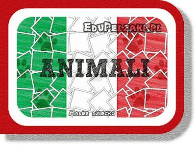 Nazwy zwierząt - język włoski - cz.2- Dźwięk i obraz - Mądre dzieci