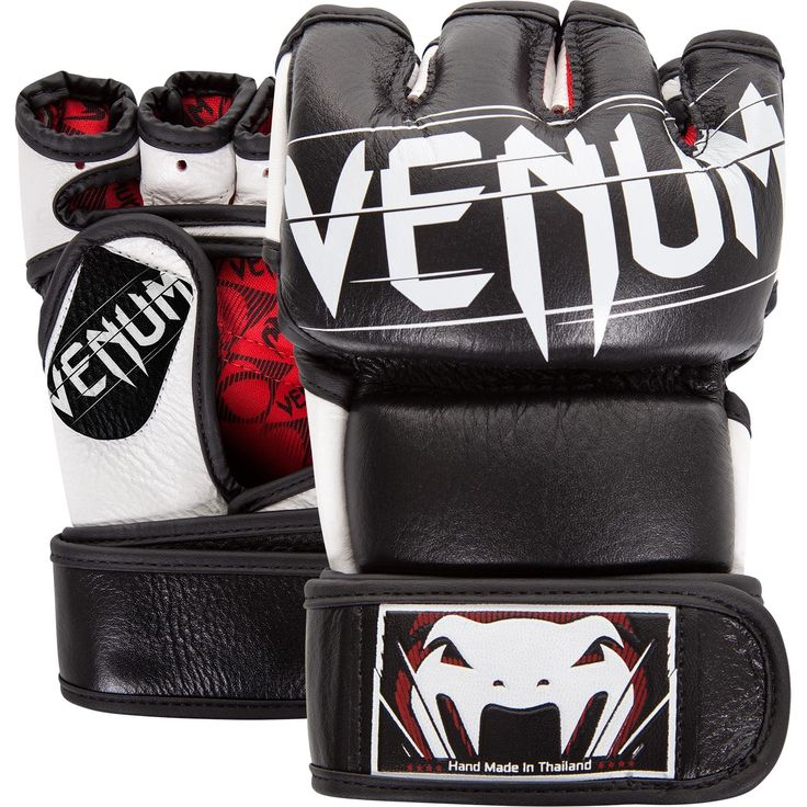 Venum Undisputed 2.0 MMA Gloves - Black - FrontBack