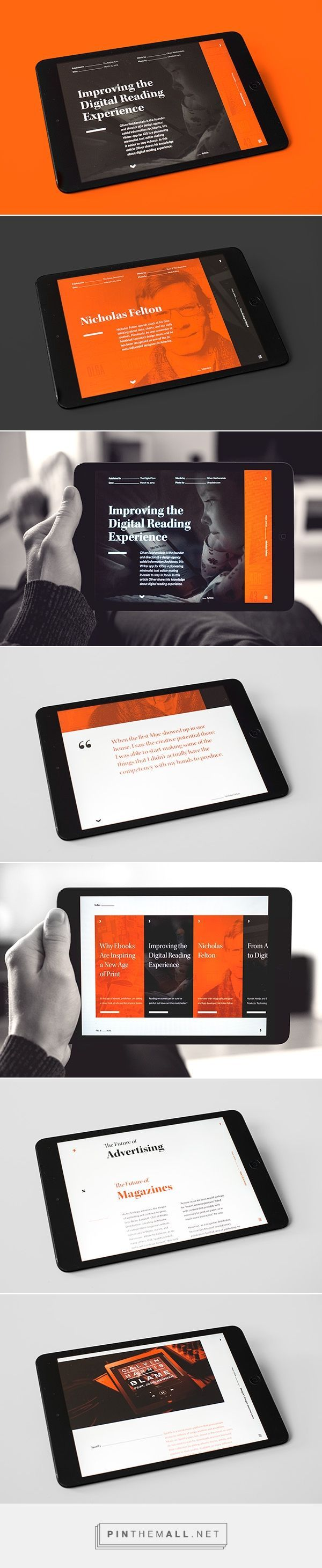 Verso – Digital Magazine; Abduzeedo Design Inspiration || #inspiration #orange