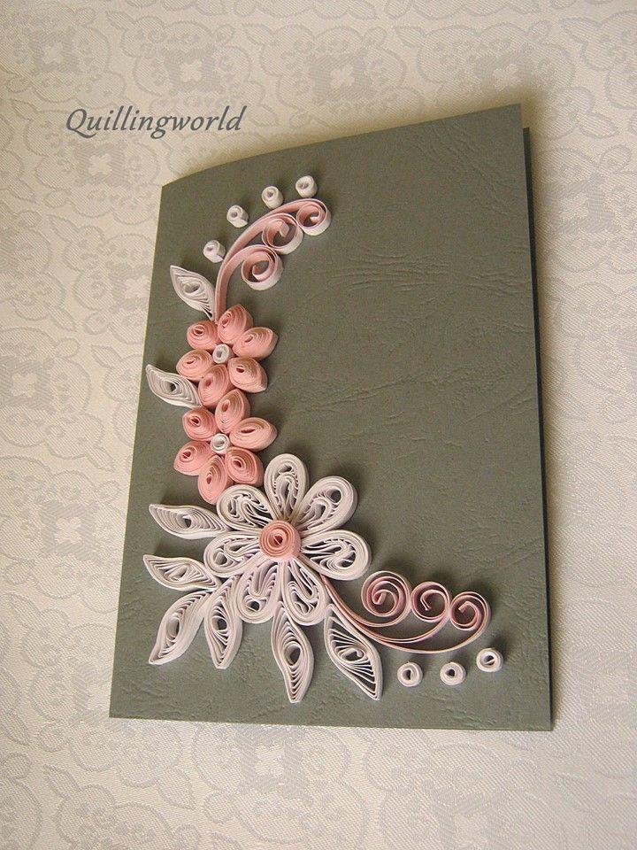 Розы открытки квиллинг