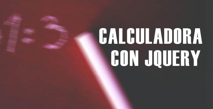 En este ejemplo desde cero con codigo incluido veremos como crear una calculadora con JQuery con operaciones básicas.  https://jonathanmelgoza.com/blog/calculadora-con-jquery/