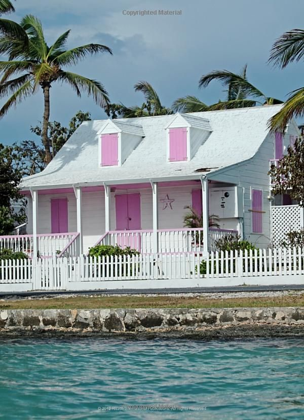 Beach Cottage Love The Pink Shutters