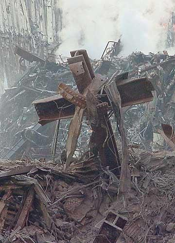September 11, 2001 A cross was found in the rubble. There is but one hope for America...