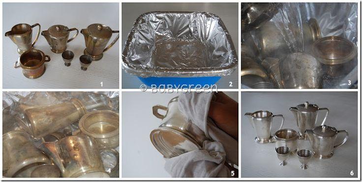 Come pulire l'argento (velocemente e senza strofinare) STROFINARLO CON COLLANT DA DONNA