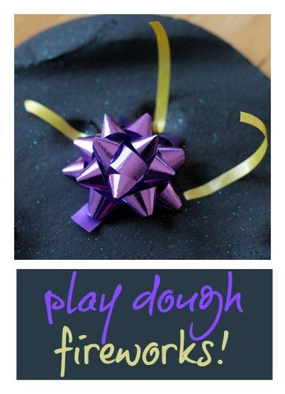 Play dough #fireworks! From Cathy James  @Nurturestore