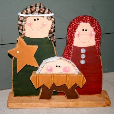 Wood Nativity