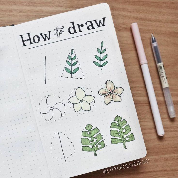 50 erstaunliche Doodle-Anleitungen für Ihr Bullet-Journal
