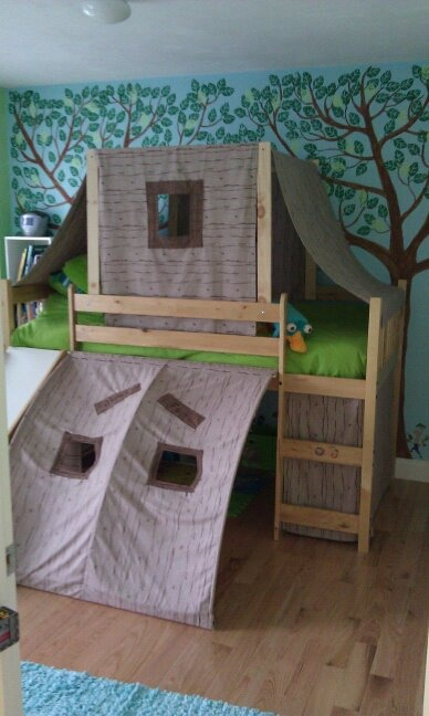Quinn's Phineas and Ferb Tree House Bedroom
