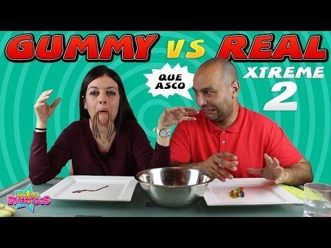 Gominolas vs realidad challenge 2 | GUMMY VS REAL 2 - YouTube
