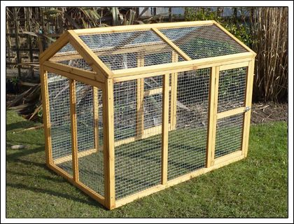 Perfect design for a chicken run (would add corrugated roofing)
