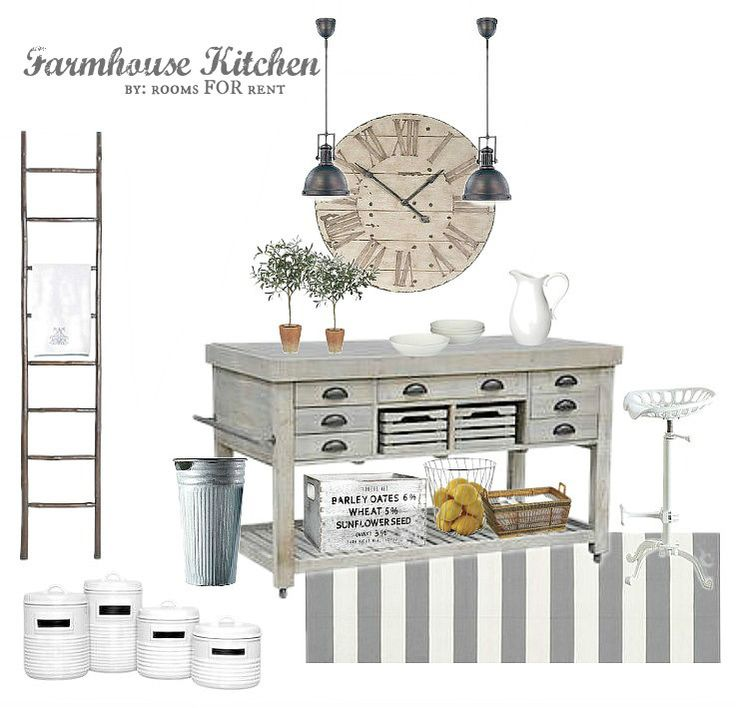 Farmhouse Kitchen mood board designed around Joss & Main products