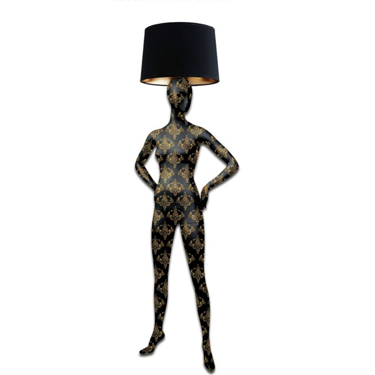 SIREN-Magestic Body Lamps- Post Modern Baroque Hand Painted Body Floor Lamp. Black and Gold Baroque Pattern. #baroque #baroquestyle #baroqueart #baroquelighting #newbaroque #modernbaroque #postmodern #postmodernart #designlight #designlighting #designlamp #mannequins #artlamp #interiorlighting #floorlamp #mannequinsinart #lightdesign #decoration #statementpiece #handpainted #interiorstyling #luxurylife #luxurylamp #luxurystyle #luxurylifestyle