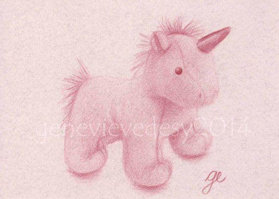 Reproduction d'un dessin de licorne en peluche aux par MatanteGe