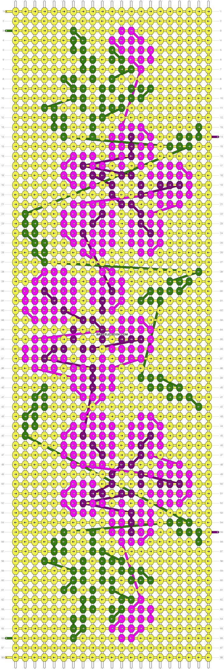Alpha Friendship Bracelet Pattern #10346 - BraceletBook.com