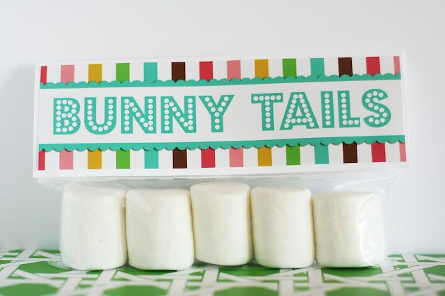 Bunny tails: Bunnies Tail, For Kids, Gifts Ideas, Cute Ideas, Easter Spr, Easter Gifts, Free Printable, Easter Treats, Easter Ideas