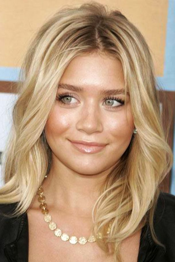shoulder length layered blonde hairstyles -