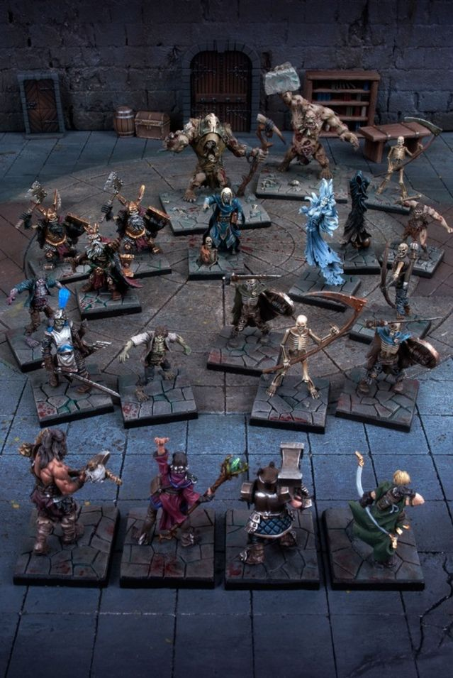 Dungeon Saga: The Dwarf King's Quest by Mantic Games — core box painted miniatures