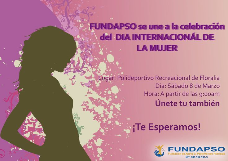 Disfruta con nosotros de la celebración del día internacional de la mujer. Te esperamos!!!
