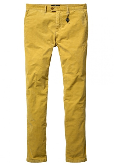 Scotch & Soda Bowie slim fit rib cord chinos