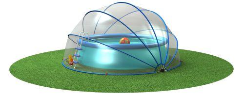 Sunnytent is nieuw vanaf seizoen 2015. Deze zwembad tent zorgt voor opgewarmd water en dient als afdekking tegen vuil. Bestel nú de Sunnytent!  - € 319,00
