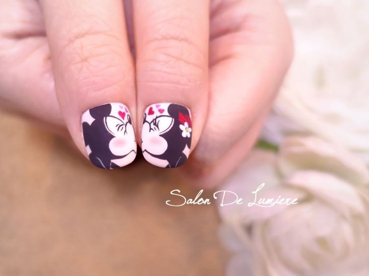 Best 50 mickey and minnie mouse nail designs 2017/2018 - 54 Best Mickey And Minnie Mouse Nail Art Images On Pinterest