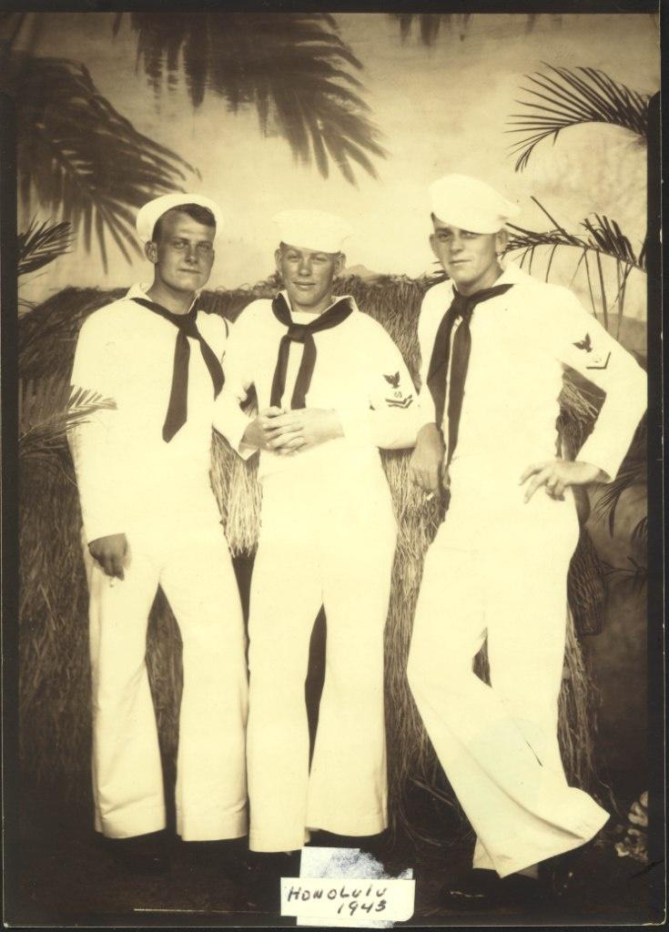 US Navy Sailors in Honolulu, Hawaii 1943