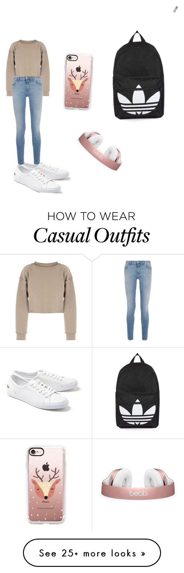 """""""Casual"""" by oliviababy01 on Polyvore featuring My Mum Made It, Lacoste, Givenchy, Topshop and Casetify"""