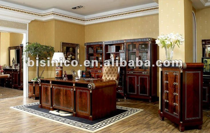 Home Office Furniture Sets   Classical wooden home office furniture set,MOQ:1SET(B66002)