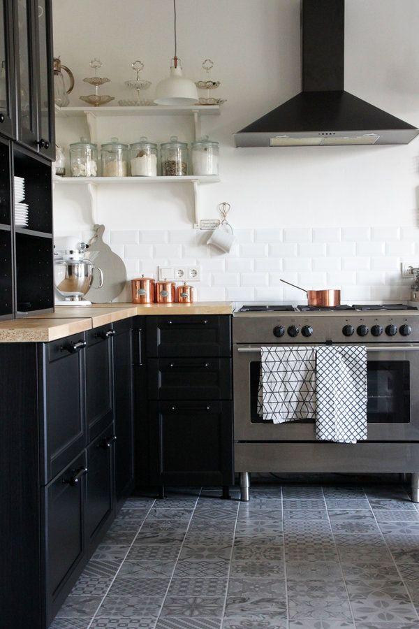 111 best Küche images on Pinterest Home kitchens, Kitchen ideas - küche mit side by side kühlschrank
