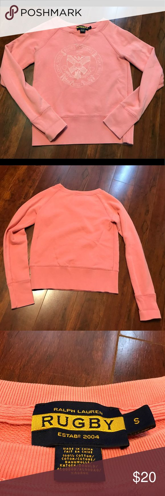 RALPH LAUREN RUGBY PULLOVER SWEATER This item is Pre-Owned. It is in very good condition. Everything sold in our closet is washed and ready for wear as soon as it's delivered to you. Thank you for stopping by Please be sure to check us out daily for new inventory.   Also catch updates on IG @CrazyGirlWerkz #ThatsCrazy Sweaters Crew & Scoop Necks