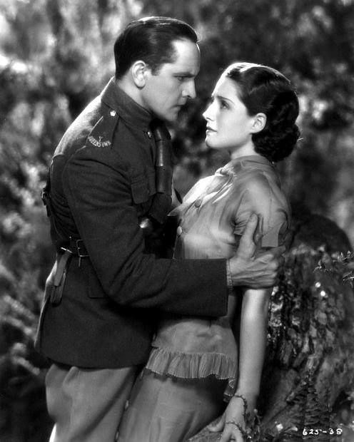 Norma Shearer with Fredric March in a scene from Smilin' Through (1932)