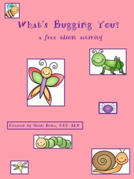 This fun FREE Springtime packet includes 9 idioms related to bugs in a matching worksheet, as well as some suggested extension activities.  It also includes a cute butterfly activity to draw or write the definition of what the idiom sounds like it means vs.