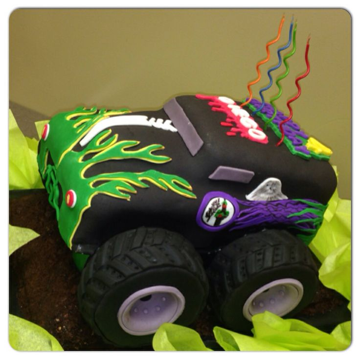 Best 25 Grave Digger Cake Ideas Only On Pinterest