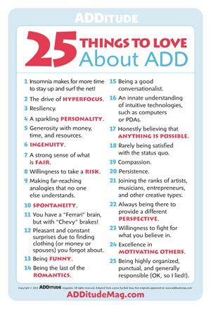 Adult symptoms of add not necessary