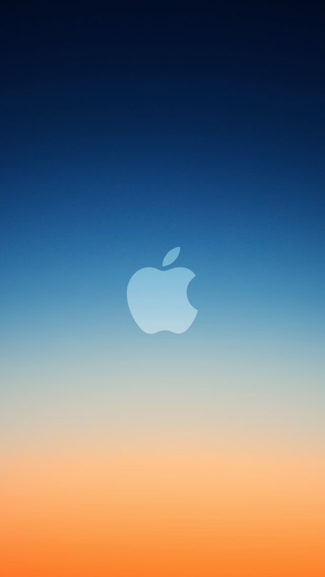 Iphone logo: Blue Orange Apple