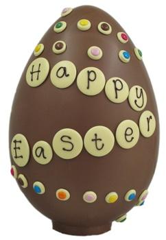 Giant Chocolate Egg @ James chocolates