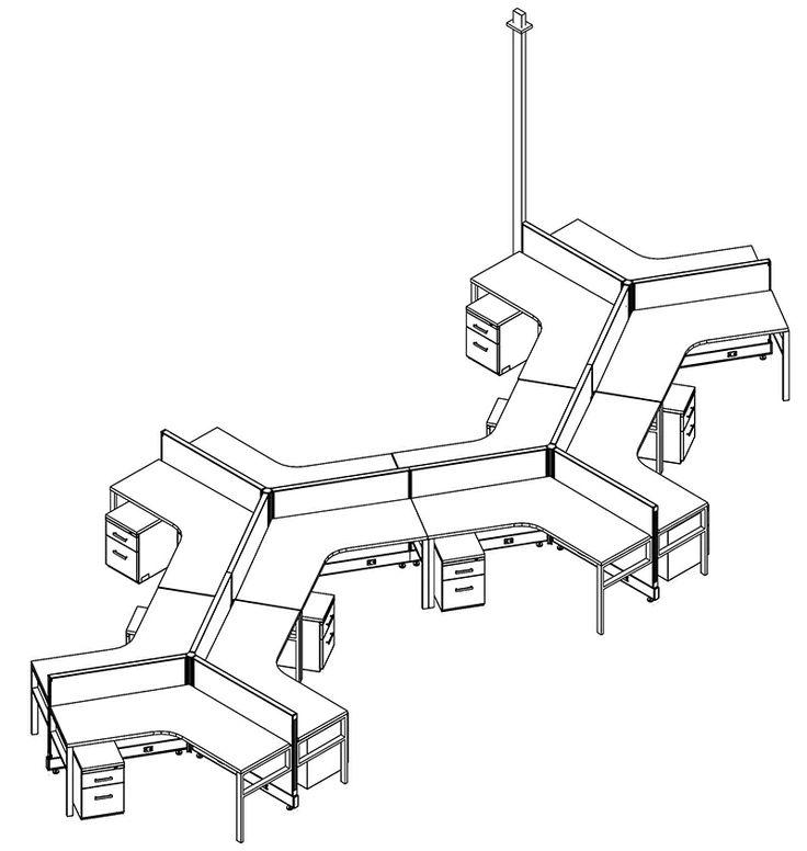 18 best Dogbone Cubicles / Desks / Workstations images on