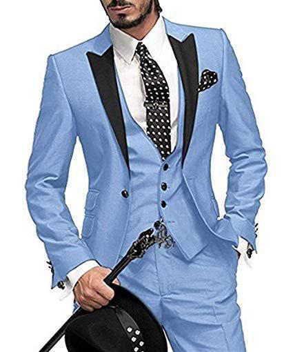 6004729daaf502 16 Colours 2018 Men Wedding Suits with Pants 3 Piece Suits Men Tuxedo Man  Suits Slim