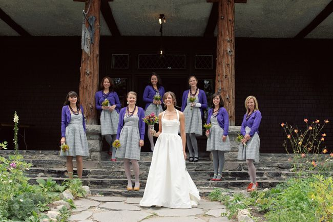 bridesmaids wearing cardigans