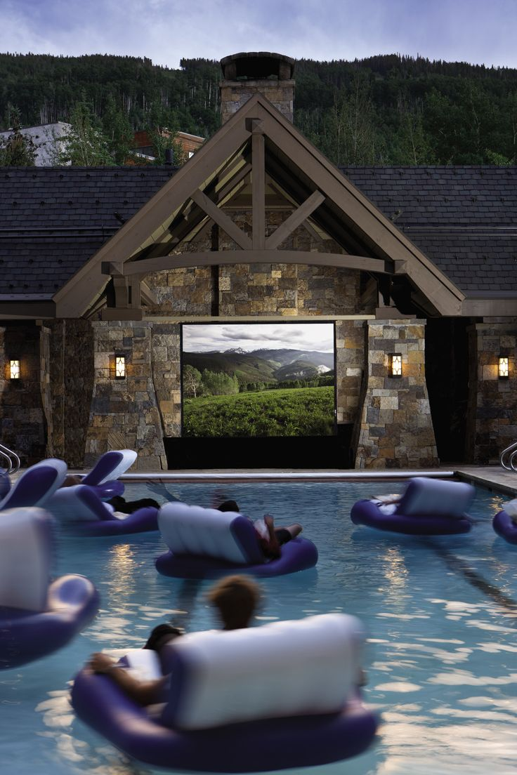 "Our new favorite spot! ""Dive-in"" movies - during the summer months, little guests can enjoy fun flicks from the comfort of the Four Seasons Resort Vail's heated pool"