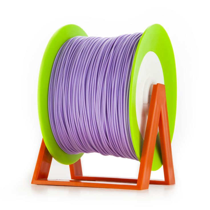 PLA Filament Color Wisteria Purple EUMAKERS | Diameter 1,75mm | New spool is convertible into a coat hanger. Spool holder included | Weight: 1 Kg | www.monzamakers.com #3Dprinting #3Dprint #3Dfilament #3Dfilaments #Eumakers #MonzaMakers