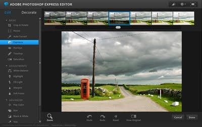 Even if you don't have Photoshop, it's possible to make simple corrections to your images using Photoshop's online Express Editor.