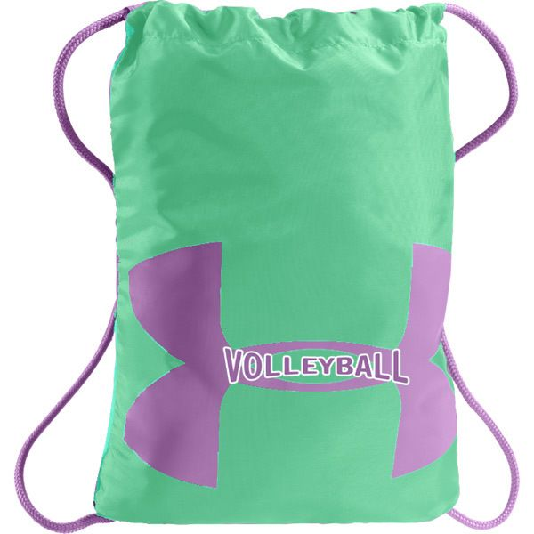 Under Armour Ozsee Volleyball Sackpack - Mint/Purple
